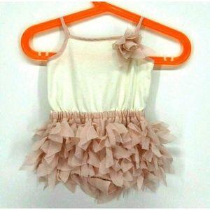 Max Studio Baby Girls Dress Pink 3D Flower